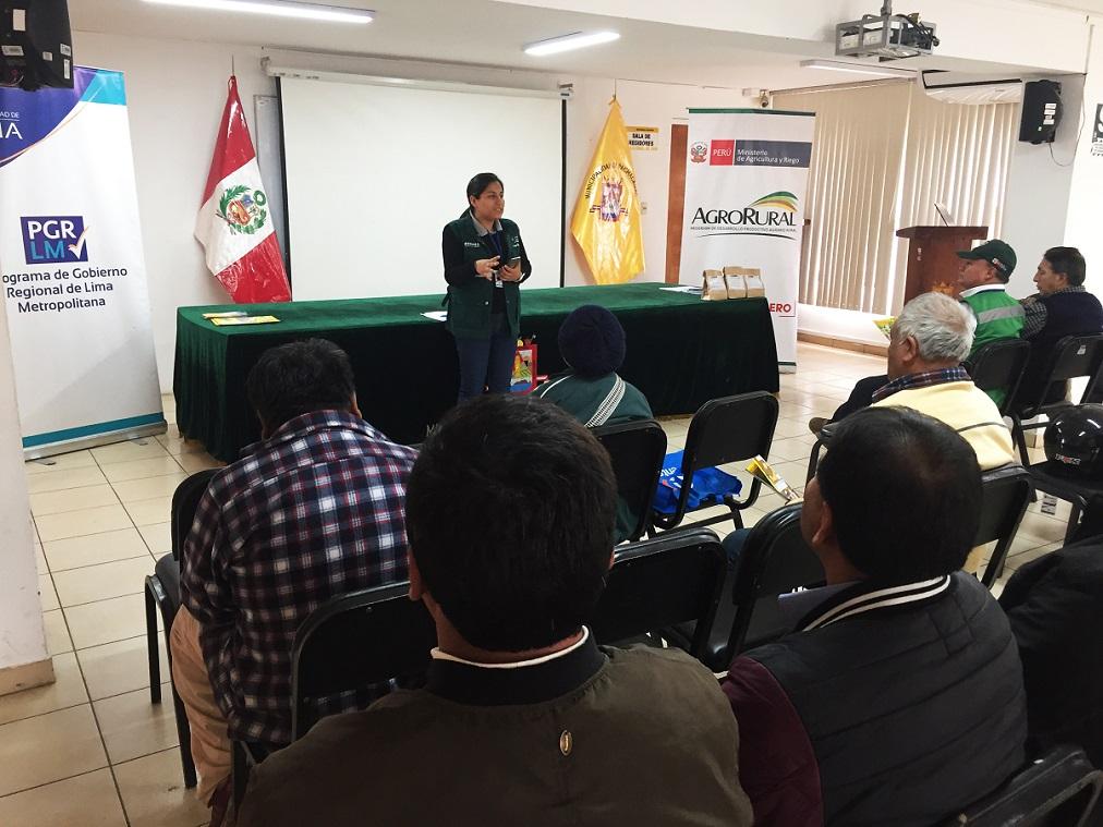 productores se capacitan gracias a la Municipalidad de Lima