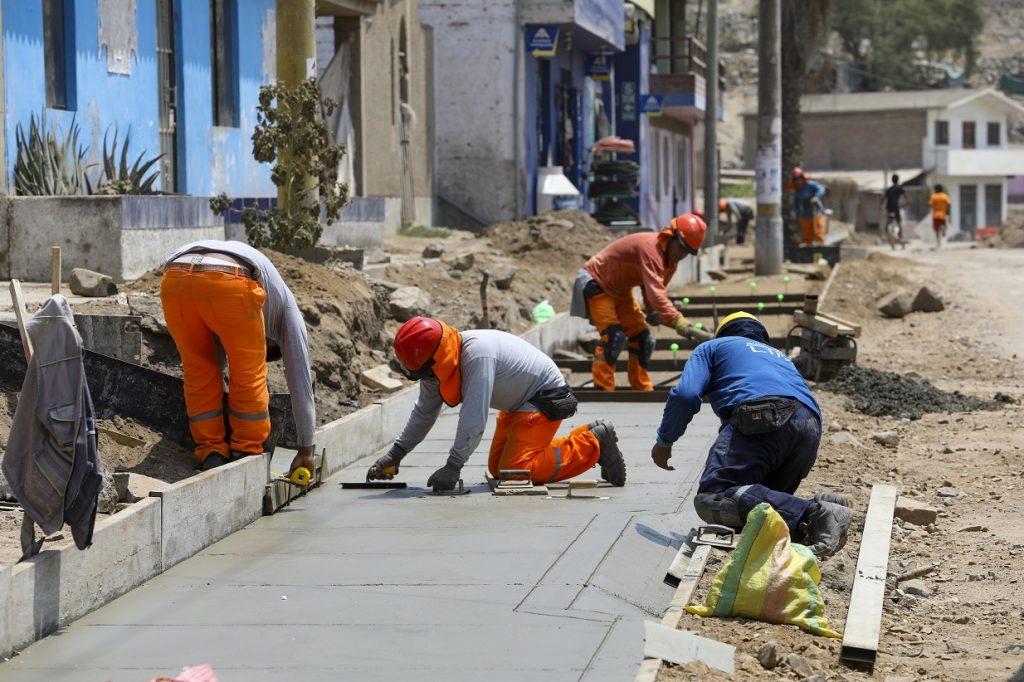 Trabajos en vía Poblet